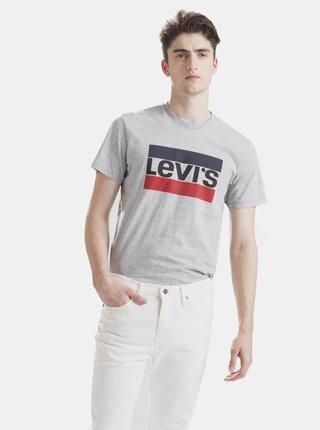 Šedé pánské tričko s potiskem Levi's®