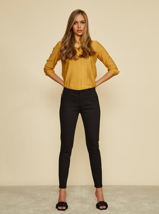 Černé dámské slim fit kalhoty ZOOT Baseline Heather