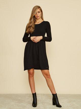 Čierne svetrové šaty ZOOT Baseline Faith