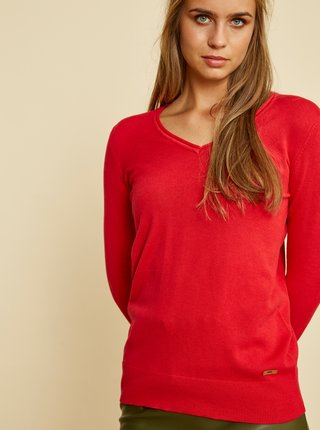 Červený dámský basic svetr ZOOT Baseline Irma