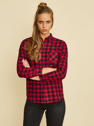 Červená dámská kostkovaná košile ZOOT Gerda