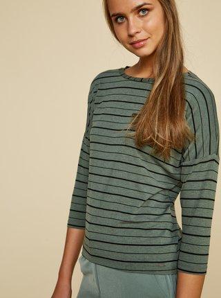 Zelené dámske pruhované tričko ZOOT Kleopatra