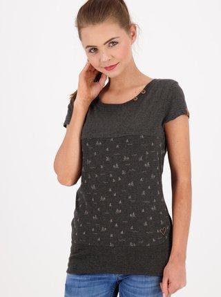 Šedé dámske vzorované tričko Alife and Kickin