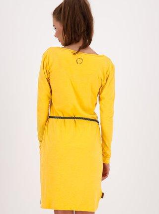 Žluté šaty s páskem Alife and Kickin