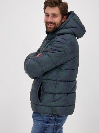 Tmavozelená pánska zimná prešívaná bunda Alife and Kickin