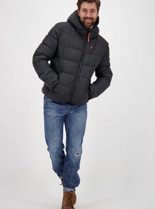 Čierna pánska zimná prešívaná bunda Alife and Kickin