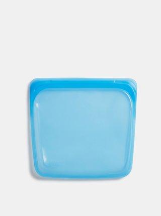 Modrý silikonový sáčok na potraviny Stasher Sandwich 450 ml