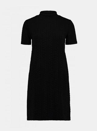 Čierne svetrové šaty Haily´s
