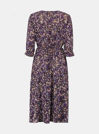 Fialové květované šaty Haily´s