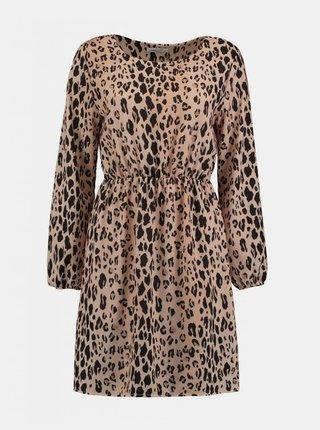 Béžové šaty s levhartím vzorem Haily´s