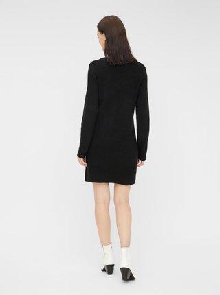Černé svetrové šaty Pieces Ellen
