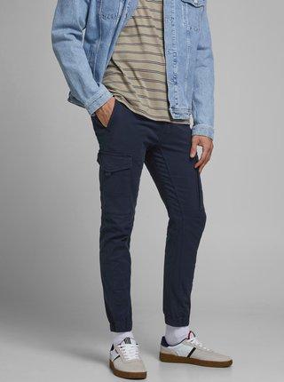 Tmavě modré kalhoty Jack & Jones Paul