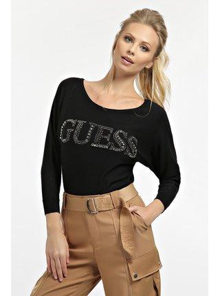 Guess černý svetr Jewel Detail Logo Sweater