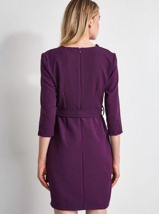 Fialové šaty Trendyol