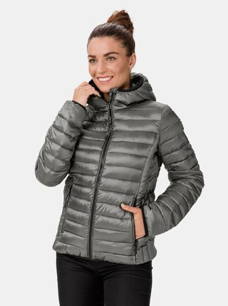 Šedá dámská prošívaná zimní bunda SAM 73