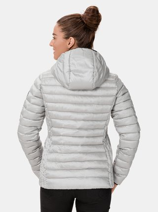 Dámská prošívaná zimní bunda ve stříbrné barvě SAM 73