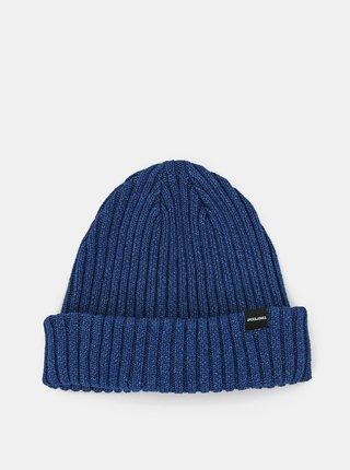 Modrá čiapka Jack & Jones Denny