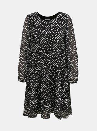 Černé volné puntíkované šaty Haily´s