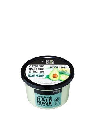 Organic Shop Expres Regenerační maska na vlasy Avokádo a Med 250 ml