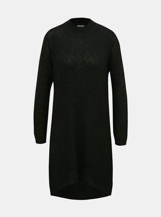 Čierne svetrové šaty Jacqueline de Yong Megan