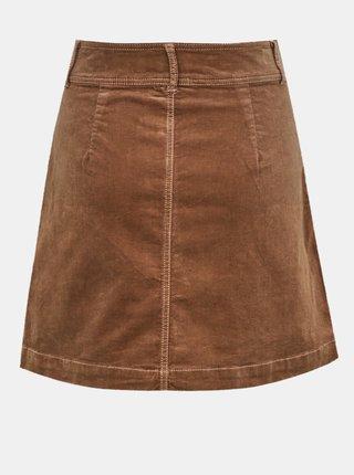 Hnědá manšestrová sukně Jacqueline de Yong Era