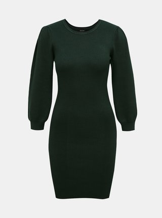 Tmavě zelené svetrové pouzdrové šaty VERO MODA Darma