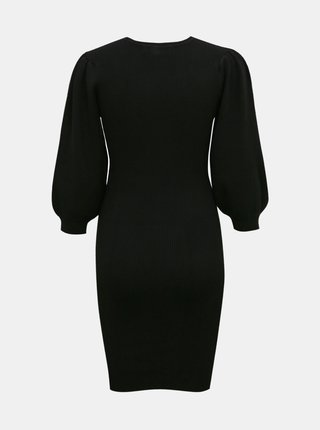 Čierne svetrové púzdrové šaty VERO MODA Darma