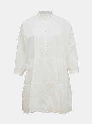 Biele voľné košeľové šaty AWARE by VERO MODA Leah