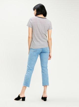 Čierno-biele dámske pruhované tričko Levi's®