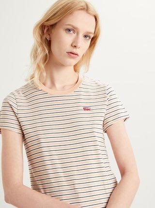 Béžové dámske pruhované tričko Levi's®