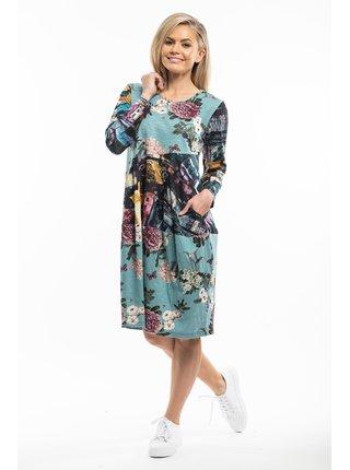 Orientique barevné šaty Da Vinci