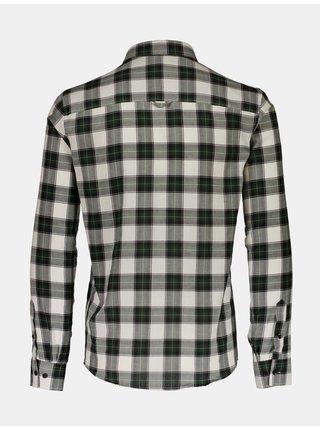 Šedo-zelená kockovaná košeľa Shine Original