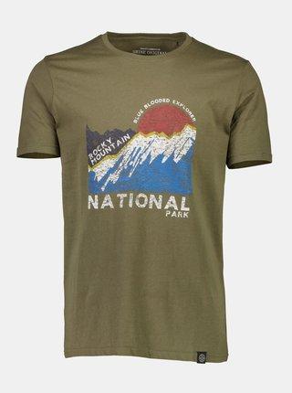 Kaki tričko s potlačou Shine Original