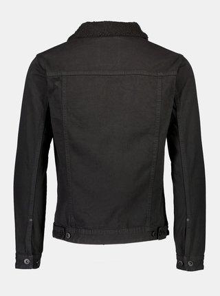 Čierna rifľová bunda Shine Original