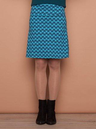 Modrá vzorovaná sukně Tranquillo