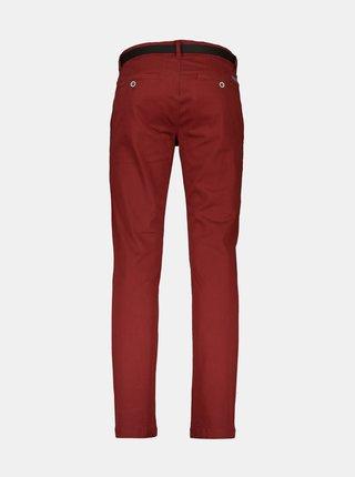Vínové chino kalhoty Lindbergh