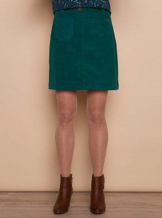 Zelená manšestrová sukně Tranquillo