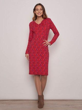 Červené vzorované šaty Tranquillo