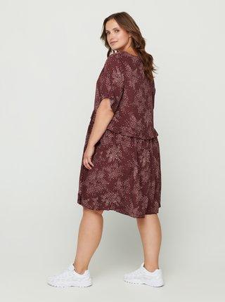 Hnedé vzorované šaty Zizzi