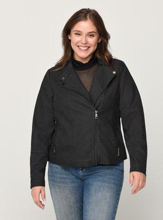 Čierna koženková bunda Zizzi