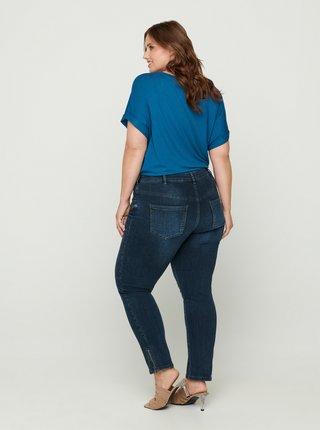 Tmavě modré skinny fit džíny Zizzi