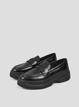 Čierne dámske kožené mokasíny Vagabond