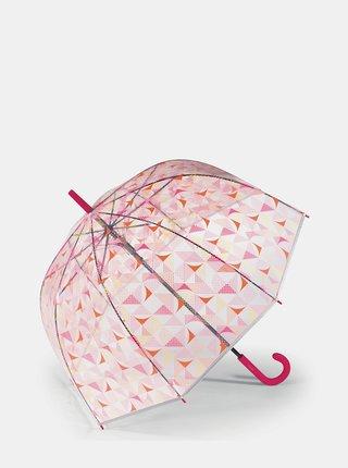 Transparentný dámsky vzorovaný skladací dáždnik Esprit