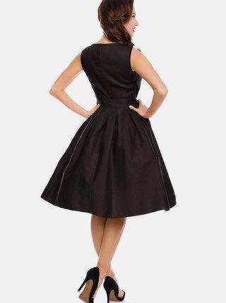 Černé šaty se zavazováním Dolly & Dotty