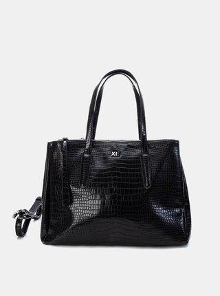 Černá kabelka s krokodýlím vzorem Xti