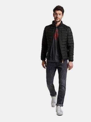Čierna pánska prešívaná bunda Tom Tailor