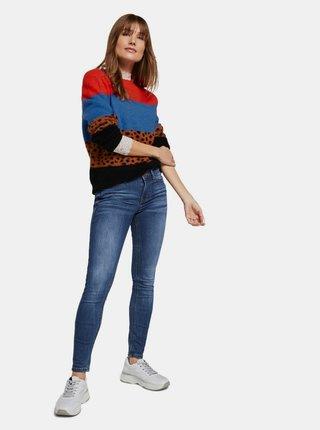 Modré dámské skinny fit džíny Tom Tailor Denim