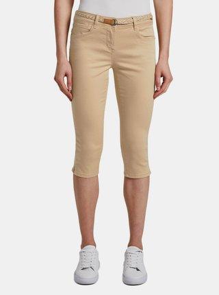 Béžové dámské 3/4 kalhoty Tom Tailor