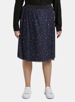 Tmavomodrá dámska vzorovaná sukňa My True Me Tom Tailor