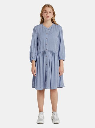 Modré dámske pruhované šaty Tom Tailor Denim